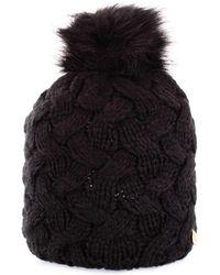 Guess - Women's Black Wool Hat - Lyst