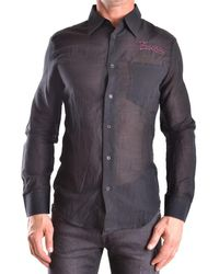 Frankie Morello - Men's Black Cotton Shirt - Lyst