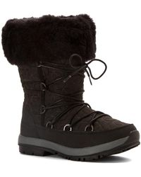 BEARPAW | Womens Leslie Closed Toe Mid-calf Cold Weather Boots | Lyst