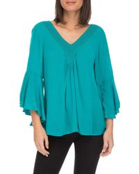 Bobeau - V-neck With Bell Sleeve - Lyst