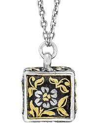 Lois Hill - Journey 24k & Silver Floral Necklace - Lyst