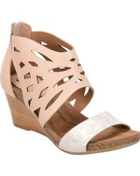 Söfft - Womens Mystic Leather Open Toe Casual T-strap Sandals - Lyst