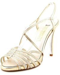 E! Live From The Red Carpet - Tara Satin Heeled Sandals - Lyst