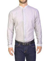 Dior - Homme Men's Wrinkled Cotton Mandarin Collar Dress Shirt Grey - Lyst