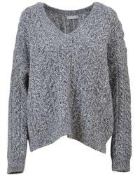 Vince - Women's Grey Wool Sweater - Lyst
