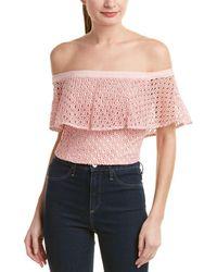 Bardot - Off-the-shoulder Crop Top - Lyst