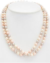 Carolee - Pink Champagne Rope Necklace - Lyst