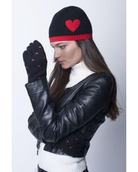 Portolano - Cashmere Hat With Heart And Pouch - Lyst