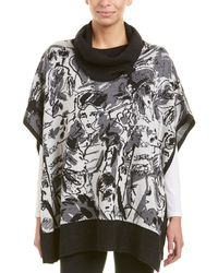 Krimson Klover - Illustrated Wool Poncho - Lyst