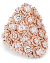 Unbranded - Pre Owned Leo Pizzo 3ct Diamond Cocktail Ring 18k Rose Gold - Lyst