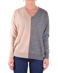 Jucca - Women's Beige/grey Wool Sweater - Lyst