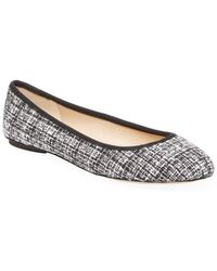 d0ad299da9af Karl Lagerfeld Leroux Sequined Ballerina Flat in Black - Lyst