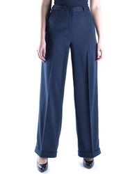 Marithé et François Girbaud - Women's Blue Polyester Trousers - Lyst