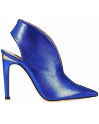 Pinko - Women's Blue Leather Heels - Lyst