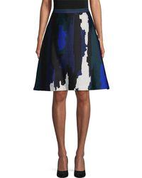 WHIT - Parker Graphic Silk Skirt - Lyst