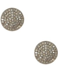 Adornia - Champagne Diamond And Sterling Silver Imogen Stud Earrings - Lyst