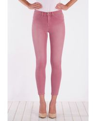 Henry & Belle - High Waisted Cropped Skinny Jean - Lyst