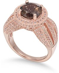 Suzy Levian - Sterling Silver 4.37 Cttw Smoky Quartz Ring - Lyst