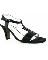David Tate - Womens Stargaze-001 Black T-strap Sandals (c,d,w) - Lyst