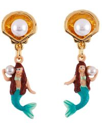 Les Nereides - I Am A Mermaid With Shell And Pearl Earrings - Lyst