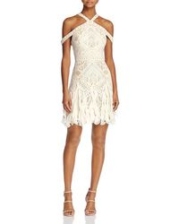 477ef581d5 BCBGMAXAZRIA - Bcbg Max Azria Womens Leighann Lace Halter Cocktail Dress -  Lyst