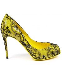 Dolce & Gabbana - Decollete Open Toe Bette - Lyst