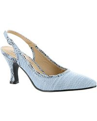 Bellini - Womens Zelda Pointed Toe Slingback Classic Court Shoes - Lyst