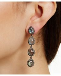 Adornia - Labradorite And Champagne Diamond Amira Earrings - Lyst