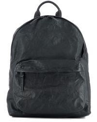 Officine Creative - Men's Black Leather Backpack - Lyst