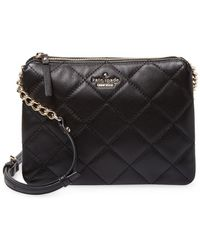 Kate Spade - Emerson Place Harbor Quilted Leather Crossbody - Lyst