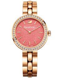 Swarovski | Crystal Plated Stainless Steel Watch | Lyst
