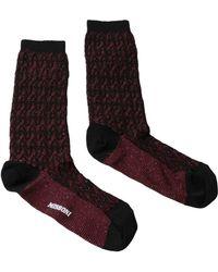 Missoni - Gm00cmd5227 0003 Burgundy/black Boot Socks - Lyst