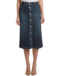 AG Jeans - Alexa Chung For Cool Denim Pencil Skirt - Lyst
