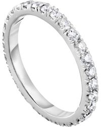 Diana M. Jewels - 18k White Gold Wedding Band With 2.00 Carats Of Total Diamond Weight - Lyst