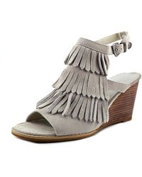 35663bbd0e18 Very Volatile - Womens Notion Leather Open Toe Casual Platform Sandals -  Lyst