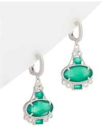 Judith Ripka - Silver 7.79 Ct. Tw. Gemstone Drop Earrings - Lyst
