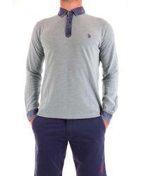 U.S. POLO ASSN. - Men's Green Cotton Polo Shirt - Lyst