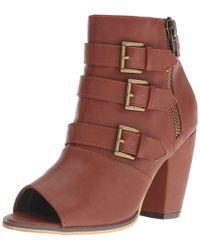Michael Antonio - Womens Maklar Peep Toe Ankle Fashion Boots - Lyst