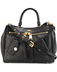 Moschino - Black Leather Satchel Bag - Lyst