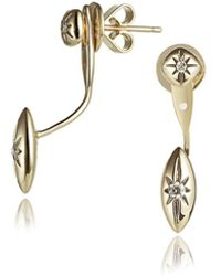 Jewelista - Diamond Jacket Earrings In 14k Yellow Gold (0.12cts,h-i I1) - Lyst