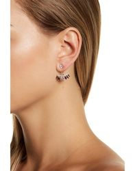 Adornia - Sterling Silver And Crystal Multi Color Jacket Earrings - Lyst