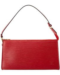 Louis Vuitton - Red Epi Leather Pochette Accessoires - Lyst