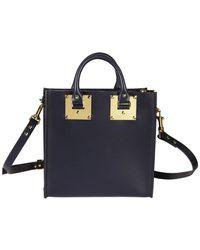 Sophie Hulme - Women's Bg151lenavy Blue Leather Handbag - Lyst