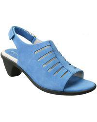 David Tate - Womens Lexus Leather Open Toe Casual Slingback Sandals - Lyst