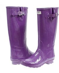 Forever Young - Rubber Glossy Tall Rain Boots - Lyst