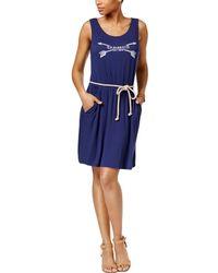 G.H.BASS - Womens Graphic Sleeveless Tank Dress - Lyst