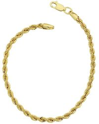 Jewelry Affairs - 14k Yellow Gold Filled Solid Rope Chain Bracelet, 3.2mm, 8.5 - Lyst