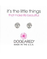 Dogeared - Silver It's The Little Things Alien Earrings - Lyst