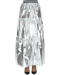 Saucony - Women's Silver Polyester Skirt - Lyst