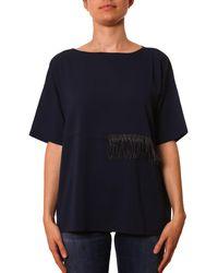 955778e47225d Lyst - Fendi Women s Light Blue Silk Blouse in Blue